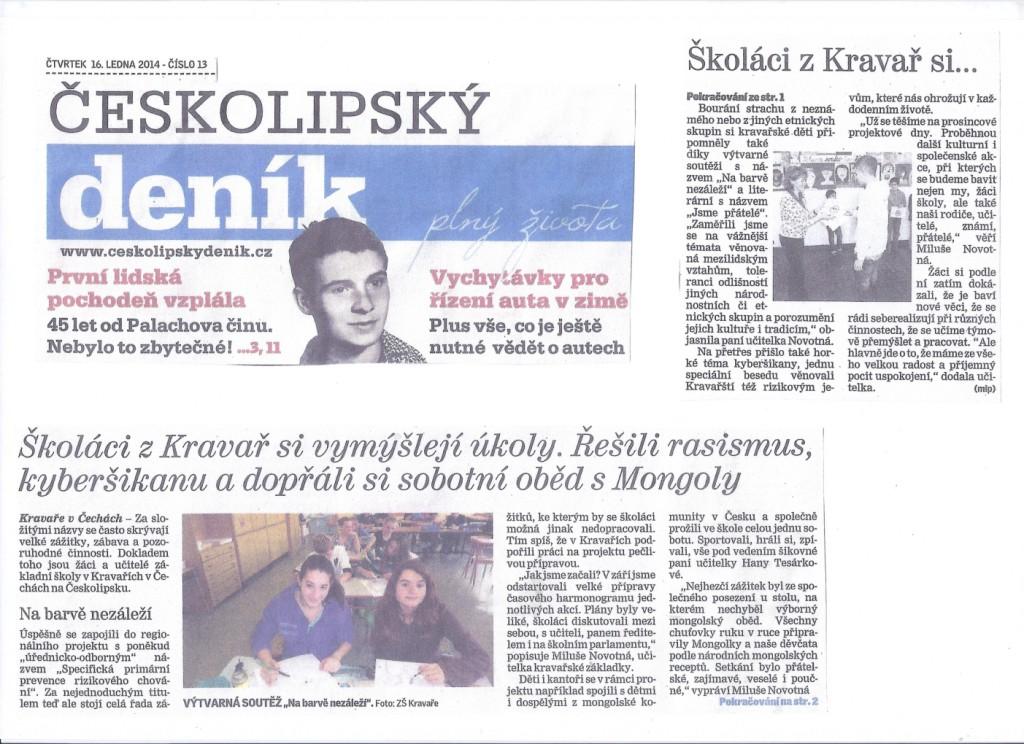 Článek v novinách