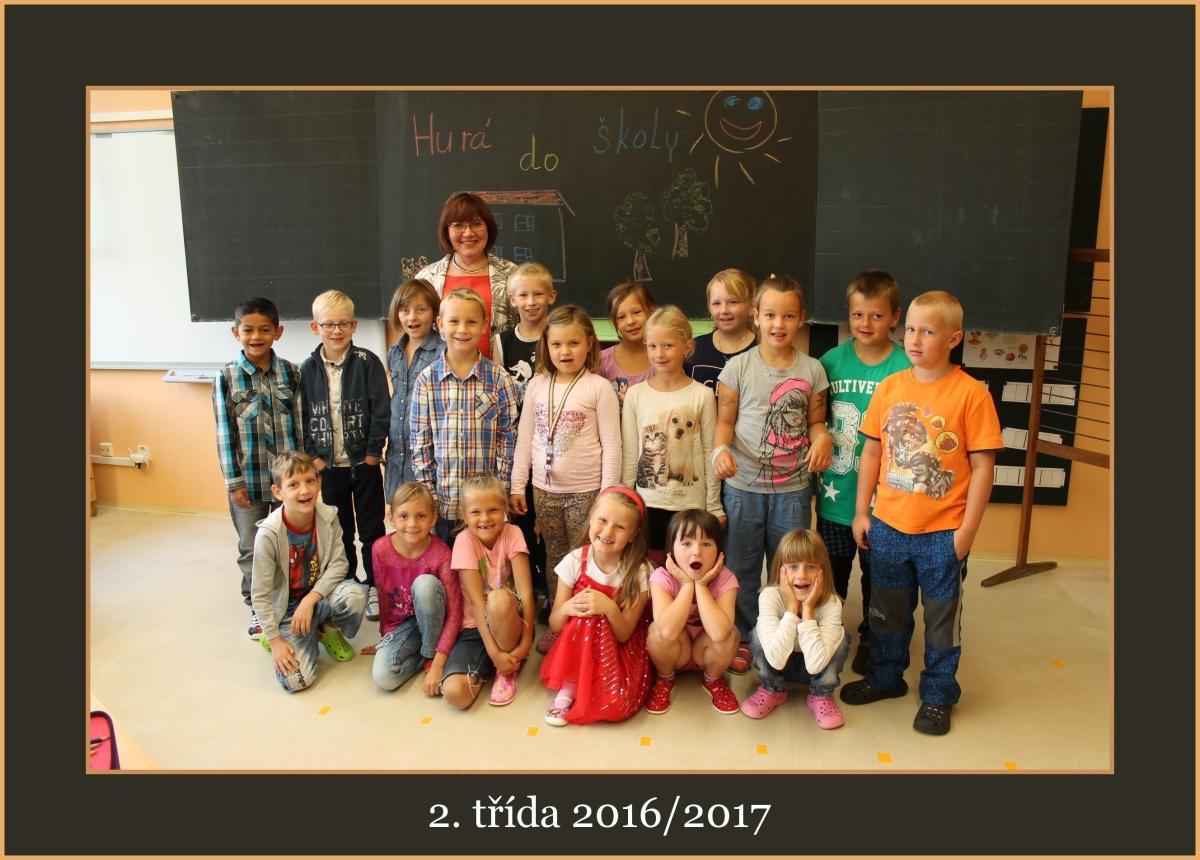 2. třída školního roku 2016/2017 s paní učitelkou Naděždou Trenčianskou
