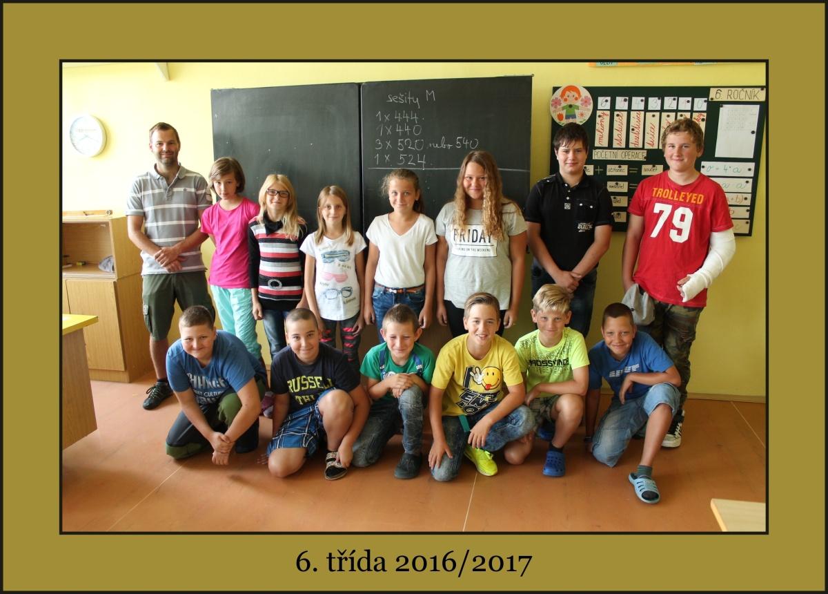 6. třída školního roku 2016/2017 s panem učitelem Andreasem Savvou