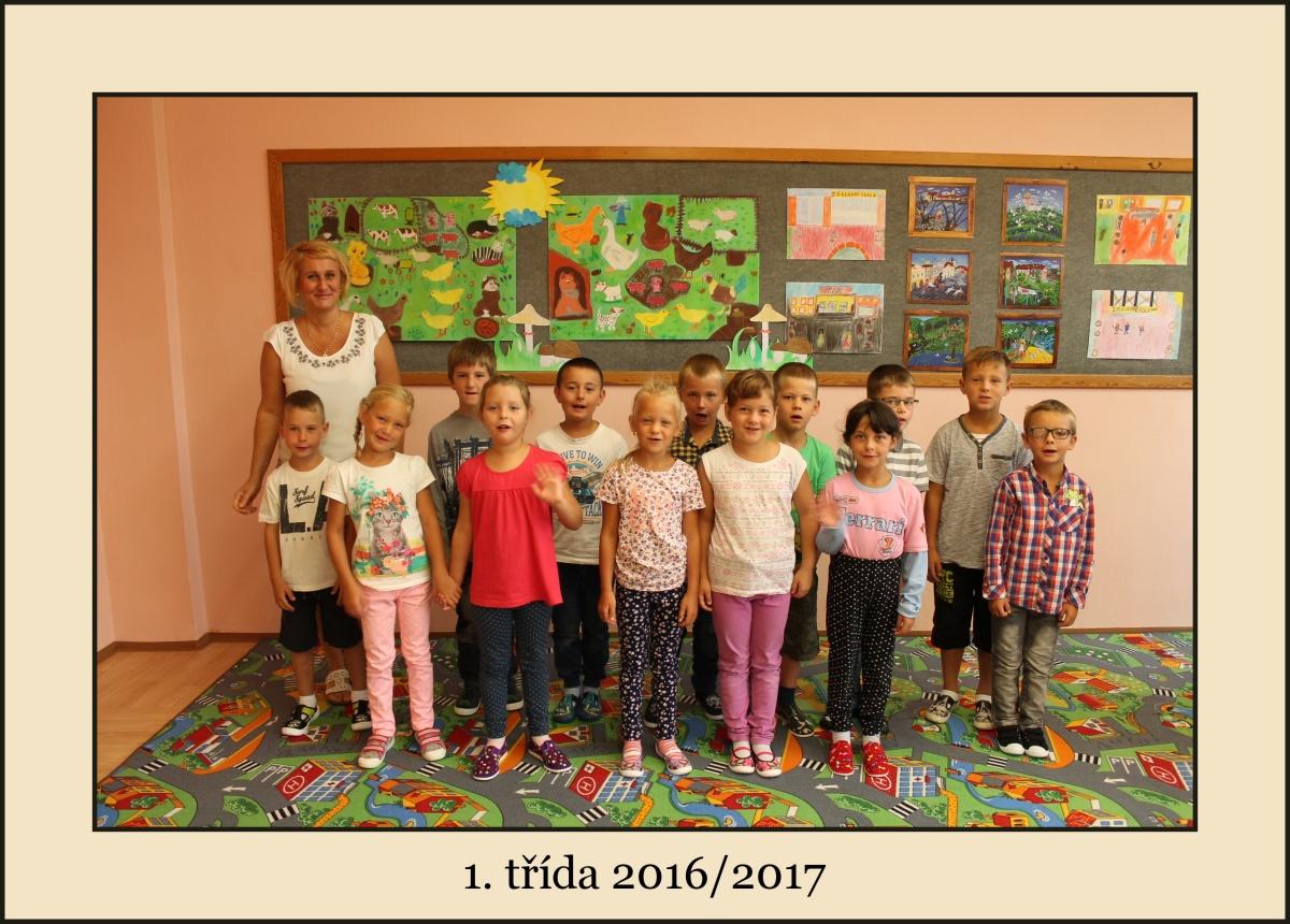 1. třídu školního roku 2016/2017 s 16 žáky vede paní učitelka Iveta Žižková.